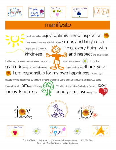 The Junior Joy Team Manifesto